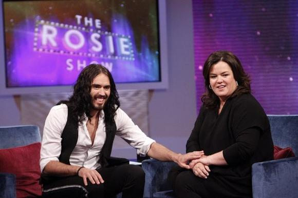 Russell Brand and Rosie O'Donnell
