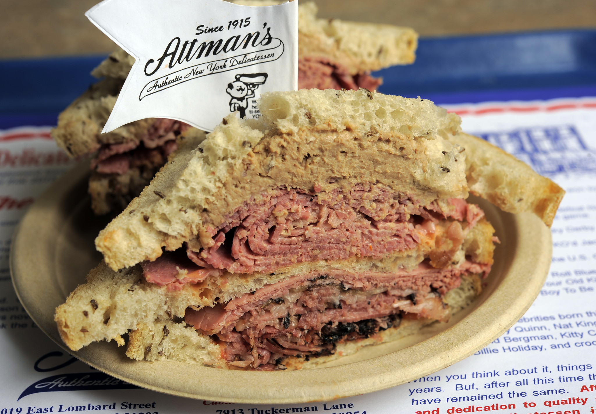 50 things Baltimore foodies must try [Pictures] - Corned beef on rye at Attman