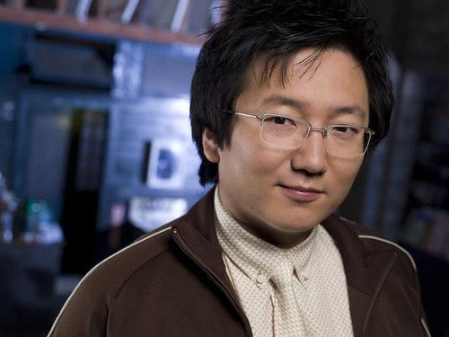 "Masi Oka on the set of ""Heroes"" on NBC."