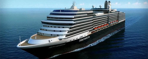 The Holland America ms Nieuw Amsterdam will debut in the summer of 2010 in the Mediterranean and then will relocate to Port Everglades in Fort Lauderdale in the fall 2010.
