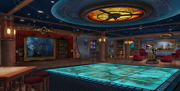 Pictures: The most unique cruise ship features - Disney Dream and Disney Fantasy interactive play floor