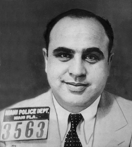 After being hunted by the FBI for years, legendary mob boss Al Capone was finally jailed for failing to pay taxes for four years. (Photo by Hulton Archive/Getty Images)