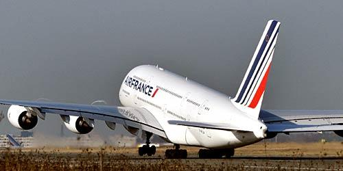 November 20, 2009<br> <br> Today, Air France's first of 12 Airbus A380s made its inaugural flight from Paris to New York. When daily transatlantic flights begin Monday, Air France will be the first European carrier to offer commercial flights aboard the superjumbo jet.<br> <br> The carrier has big shoes to fill. When Singapore Airlines debuted its A380 in 2007, it was the first carrier to offer  fully enclosed suites. Emirates featured shower spas. Here's a look at what to expect from Air France.<br> <br> -- Jason La, Los Angeles Times staff writer
