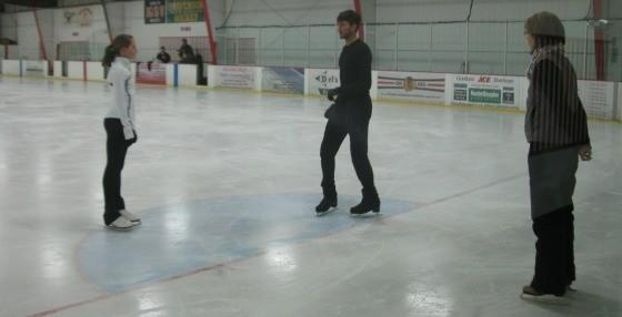 Rudi Baruch working with Evan Lysacek.
