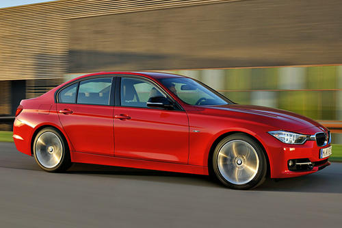 The BMW 335i gets 300 horsepower and 300 pound-feet of torque from a 3.0-liter, turbocharged, direct-injected six-cylinder engine. BMW says it needs 5.4 seconds for a 0-60 MPH run.