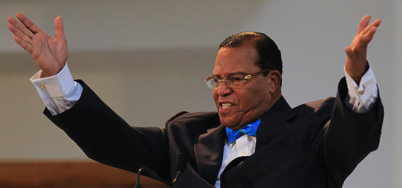 Nation of Islam leader Louis Farrakhan at a March 2011 in Chicago.