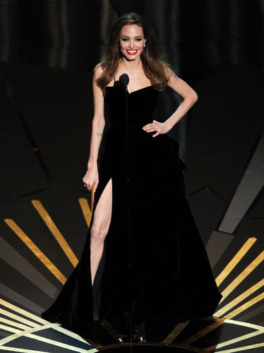 Hello, I am Angelina Jolie and this is my right leg.