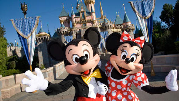 Mickey and Minnie Mouse at Disneyland