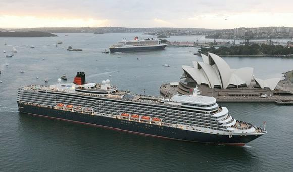 Cunard Line's Queen Elizabeth and Queen Mary 2 in Sydney