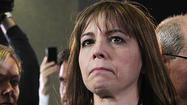 Patti Blagojevich offered a spirited defense of her husband in a tearful interview with talk show hostRosie O'Donnell, saying she has never considered breaking up with the convicted former governor.