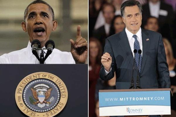 President Obama, left, and Republican presidential candidate Mitt Romney