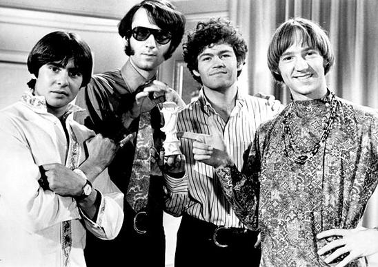 The Monkees on the set of their NBC show, from left, Davy Jones, Mike Nesmith, Micky Dolenz and Peter Tork.
