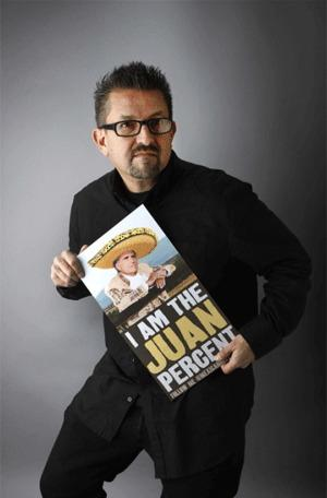 "Cartoonist and artist Lalo Alcaraz is the creator of the first nationally-syndicated, politically-themed Latino daily comic strip, ""La Cucaracha."""