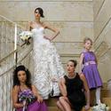 Colorful, bold bridesmaids dresses