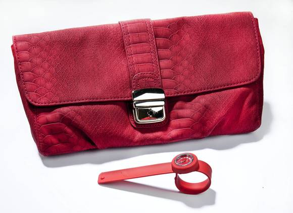 Red clutch & watch