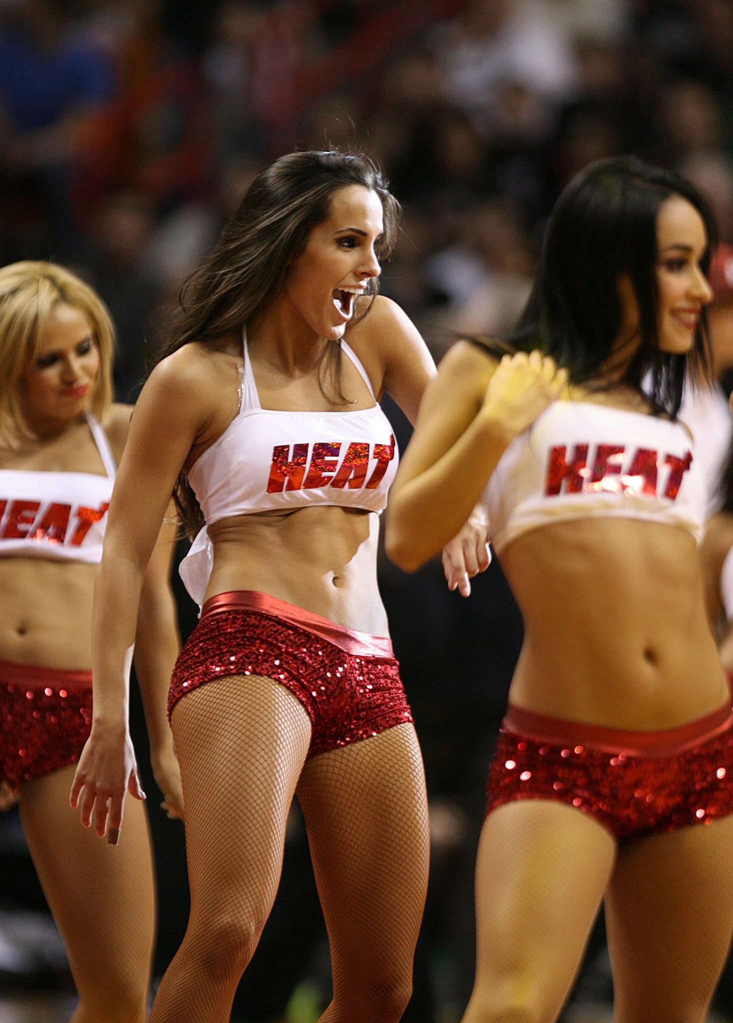 <b>Photos:</b> Miami Heat Dancers in action - Bulls v Heat