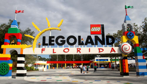 Guests arrive to preview Legoland Florida as a part of the park's soft-opening, Thursday, October 6, 2011. The park officially opens to the public, October 15.