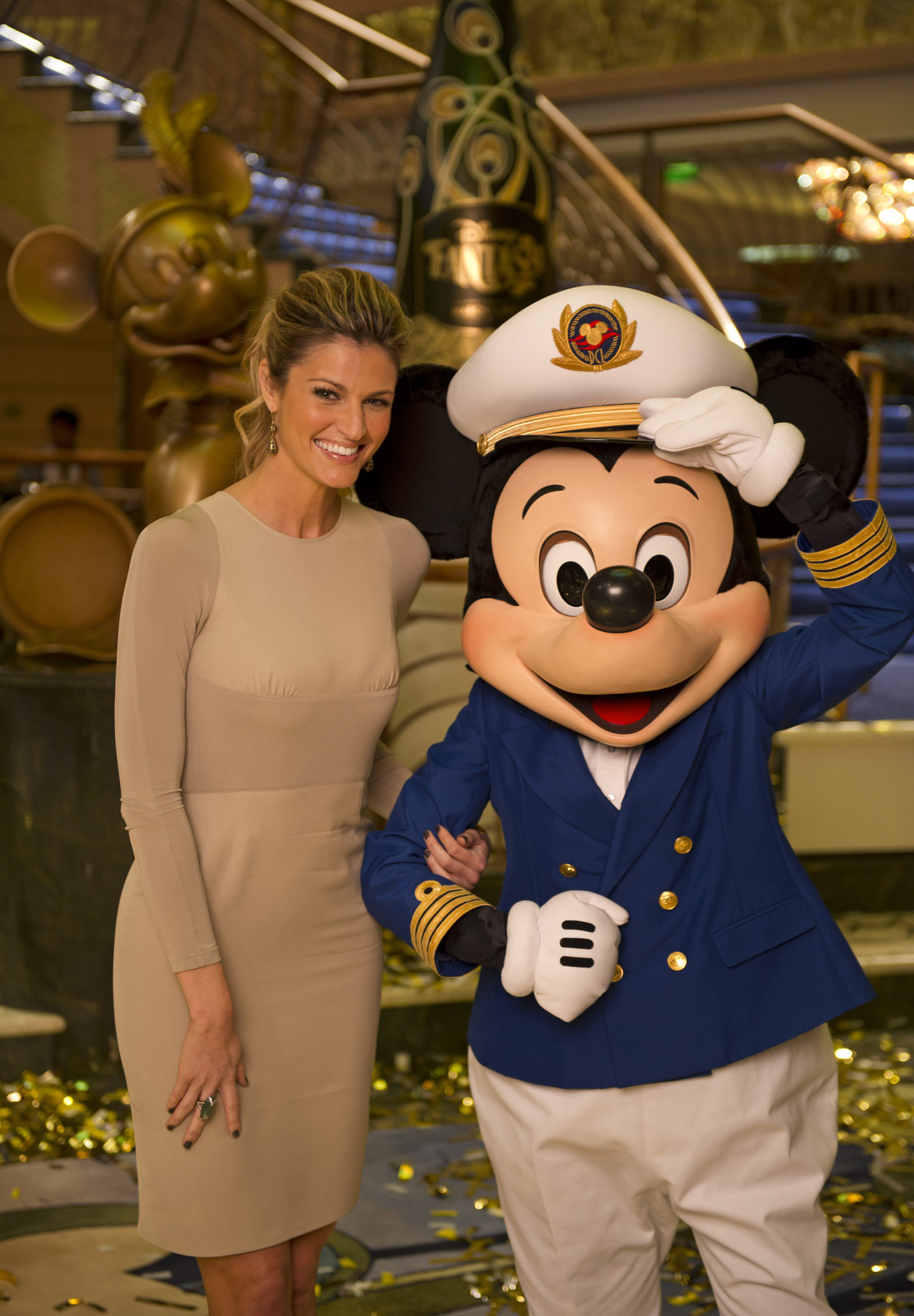 Florida Cruise Guide: Disney Fantasy pictures - Disney Fantasy christening -- Erin Andrews