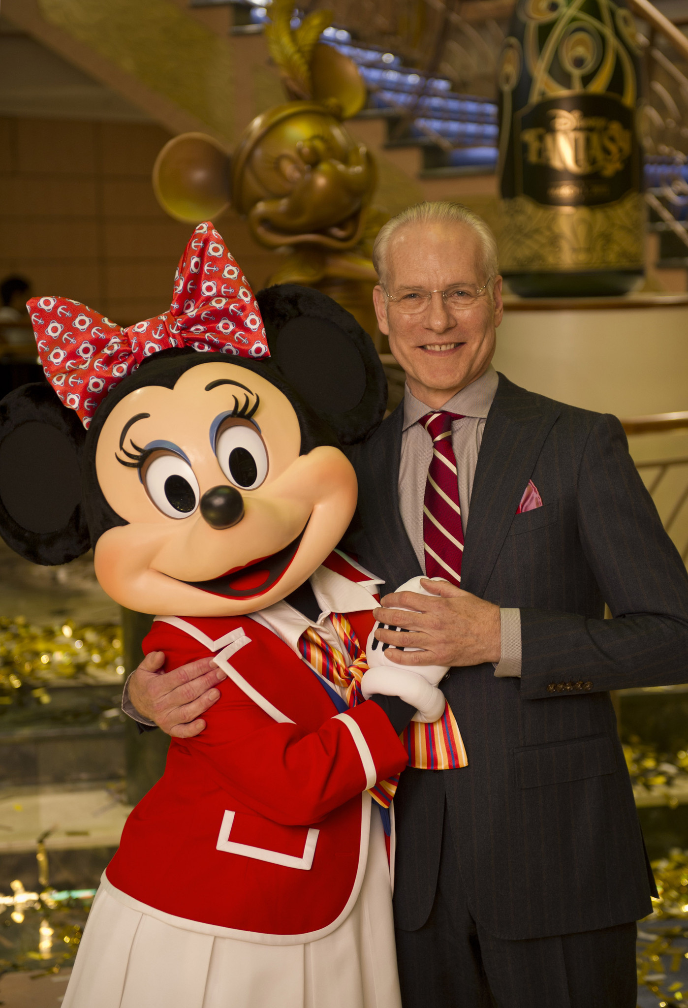 Florida Cruise Guide: Disney Fantasy pictures - Disney Fantasy christening -- Tim Gunn