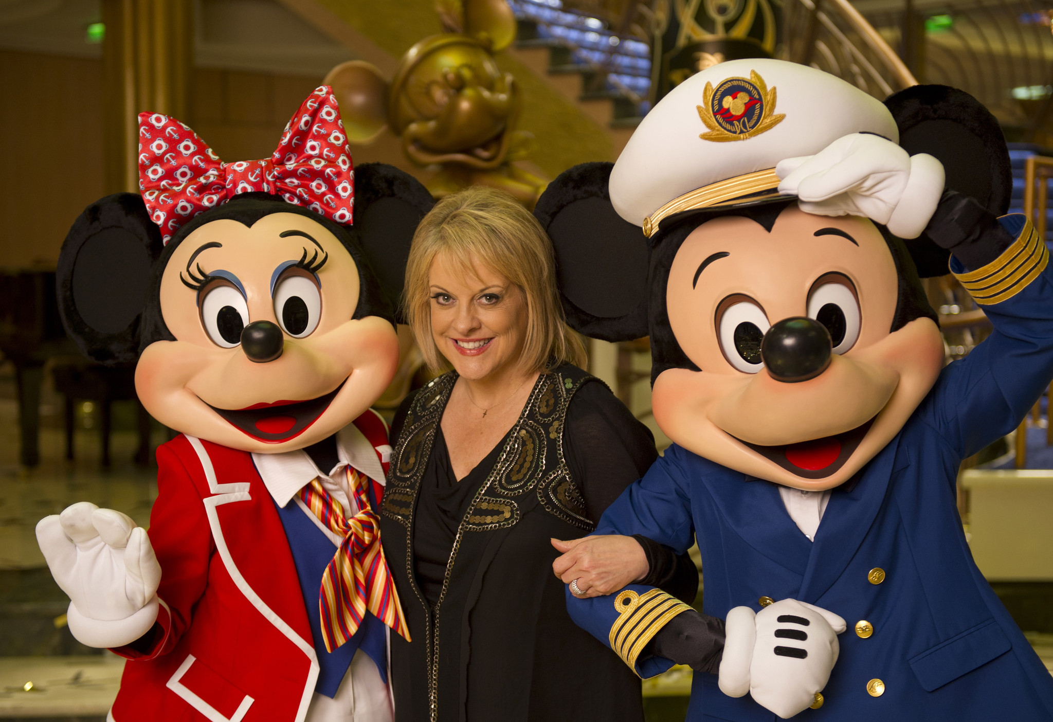 Florida Cruise Guide: Disney Fantasy pictures - Disney Fantasy christening -- Nancy Grace