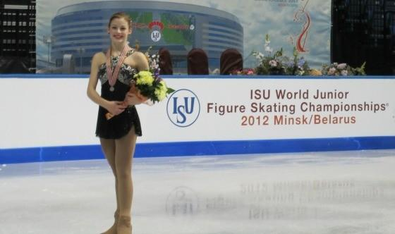 Gracie Gold with the spoils