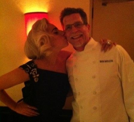 Lady Gaga and Rick Bayless