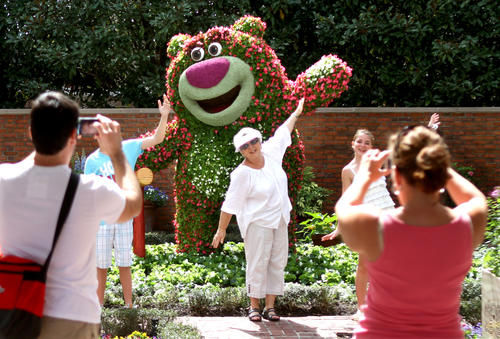 One of the fan-favorite topiaries, on display for the 2012 Epcot International Flower & Garden Festival, Friday, March 3, 2012, at the park at Walt Disney World.