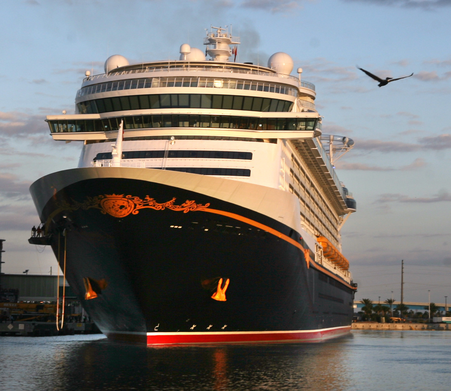 Florida Cruise Guide: Disney Fantasy pictures - Disney Fantasy arrives in Port Canaveral