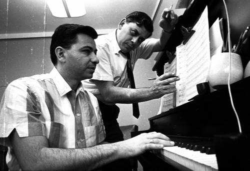 """<i>By Emily Christianson and Nardine Saad, Los Angeles Times</i><br> <br> The Disney family lost one of its own on Tuesday: Robert B. Sherman, right, who died at age 86. The prolific songwriter was known for working side by side with his brother Richard M. Sherman, left, putting films like """"Mary Poppins"""" and """"The Jungle Book"""" to music.<br> <br> RELATED: <a href=""""http://www.latimes.com/news/obituaries/la-me-robert-sherman-20120307,0,741658.story"""">Robert Sherman dies at 86</a>"""