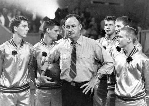 "Gene Hackman, center, starred in ""Hoosiers,"" your choice for the best sports movie of all time."
