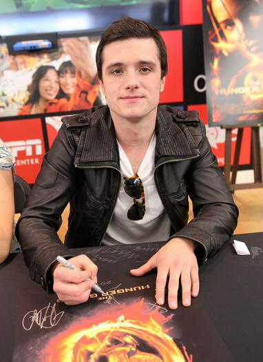 Actor Josh Hutcherson attends The Hunger Games U.S. Mall Tour Kick-Off at Westfield Century City