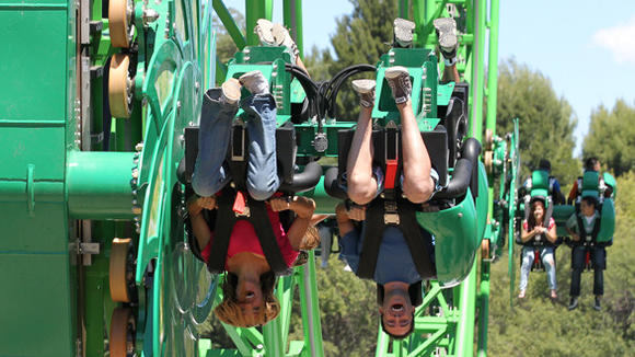 Green Lantern: First Flight roller coaster at Six Flags Magic Mountain