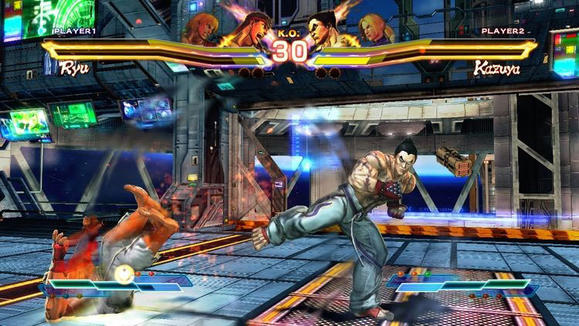 Sweep the leg, Ryu! 'Street Fighter X Tekken' allows hypothetical two-on-two matchups from both series to become a reality.