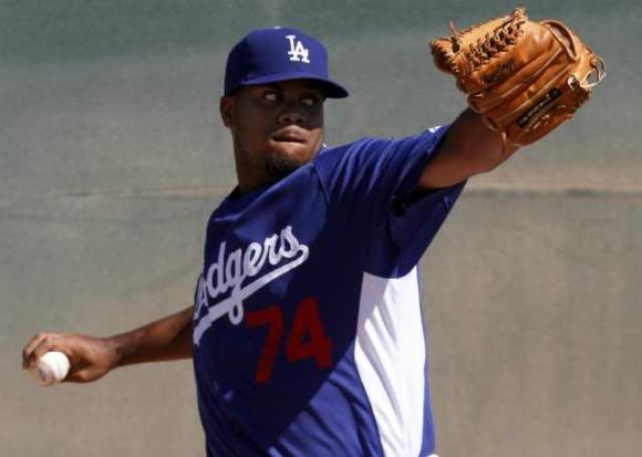 Kenley Jansen works out during spring training.