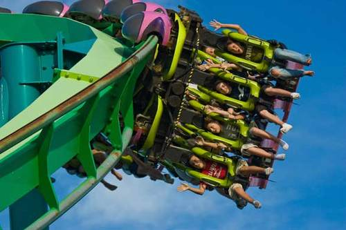 10) Raptor --  Added to Cedar Point in 1994 during the height of the coaster wars, Raptor boasts a 100-foot-tall loop, a pair of roll elements and a pair of corkscrews. Bolliger & Mabillard built similar inverted steel coasters at Six Flags Magic Mountain (Batman the Ride) and Knott's Berry Farm (Silver Bullet).