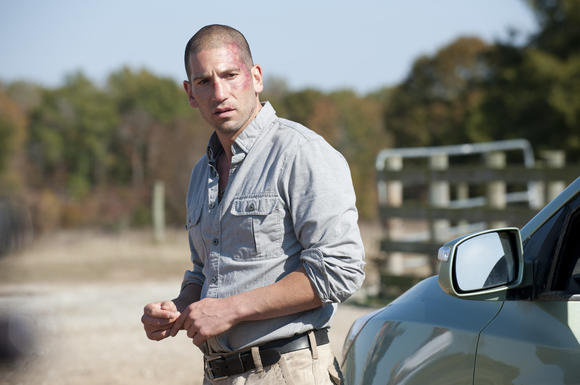 Shane (Jon Bernthal) isn't so pretty anymore, is he?