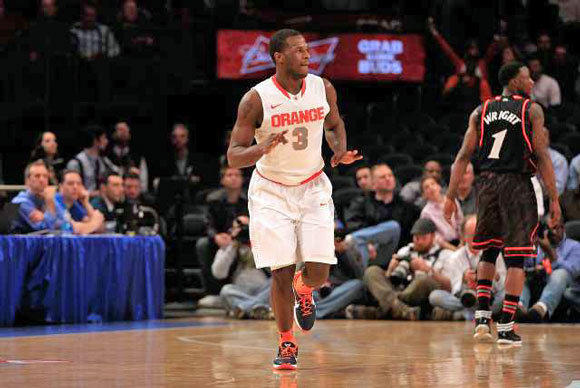 Dion Waiters of Syracuse during the semifinals of the Big East tournament on Friday.