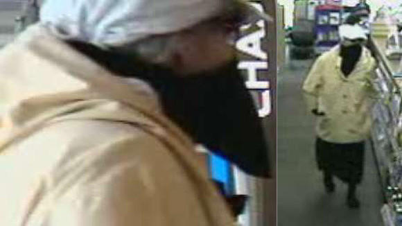 Surveillance photos from the robbery of a drug store in Wilmette.