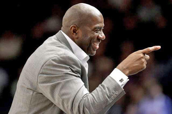 Magic Johnson would probably be the favorite of fans to buy the Dodgers. Will Frank McCourt feel the same?