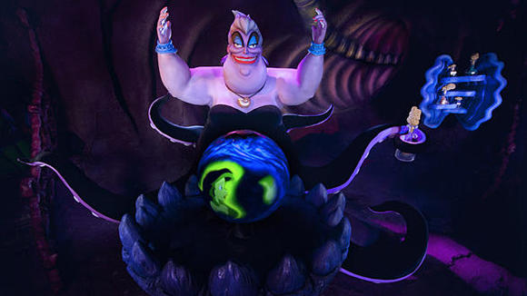 Ursula's lair scene from Little Mermaid: Ariel's Undersea Adventure at Disney California Adventure.