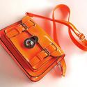 Neon orange purse
