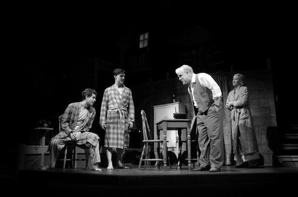 "Philip Seymour Hoffman and Andrew Garfield star in ""Death of a Salesman"" on Broadway."
