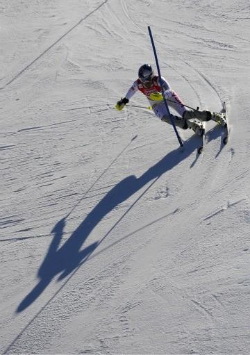 Lindsey Vonn in World Cup slalom.