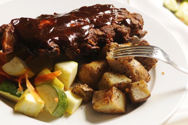 BBQ Baby Back Ribs are featured at the Easter Buffet Feast at Baci Grill in Cromwell.
