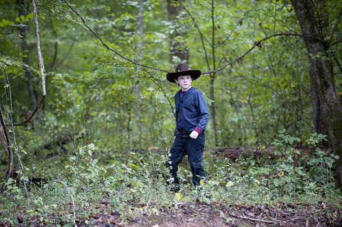 Carl Grimes (Chandler Riggs) in episode 11 of 'The Walking Dead': 'Judge, Jury, Executioner'