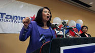 Iraq war veteran Tammy Duckworth won the Democratic primary tonight in the 8th Congressional District.