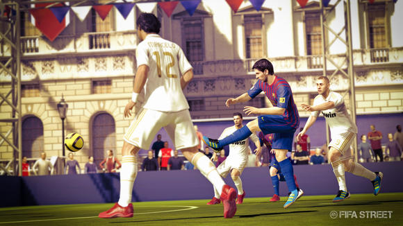 "Lionel Messi headlines an all-star cast of players available in ""FIFA Street."" Sure he's better than you, but odds are your player will look tall next to him."