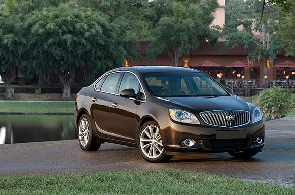 """The Verano is powered by a 2.4-liter, direct-injected four-cylinder engine that makes 180 horsepower and 171 pound-feet of torque. Although its 3,300 pounds is a tad heavy for this Buick's size (it's smaller than a Honda Accord or Toyota Camry), the engine has just enough power to move the car sufficiently. <br> <a href=""""http://www.latimes.com/business/autos/la-fi-autos-buick-verano-review-20120322,0,1163677.story""""><u>See full story</u></a>"""
