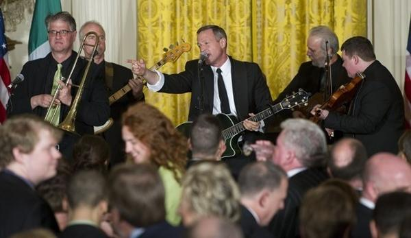 Gov. Martin Malley gets his rock on at the White House. President Obama might -- or might not -- have caught a peek.