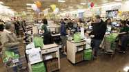 More than 100 shoppers woke up early or altered their morning routines to be on hand for the grand opening of the Sprouts Farmers Market in La Cañada Flintridge Wednesday.